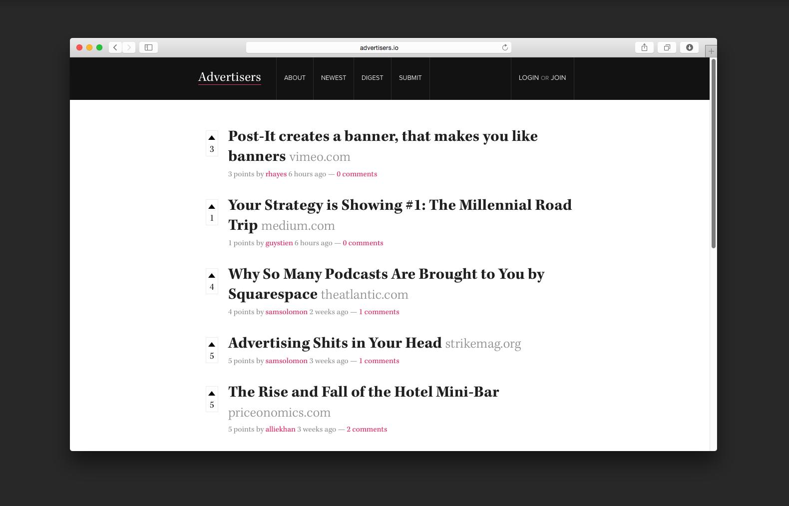Advertisers Homepage