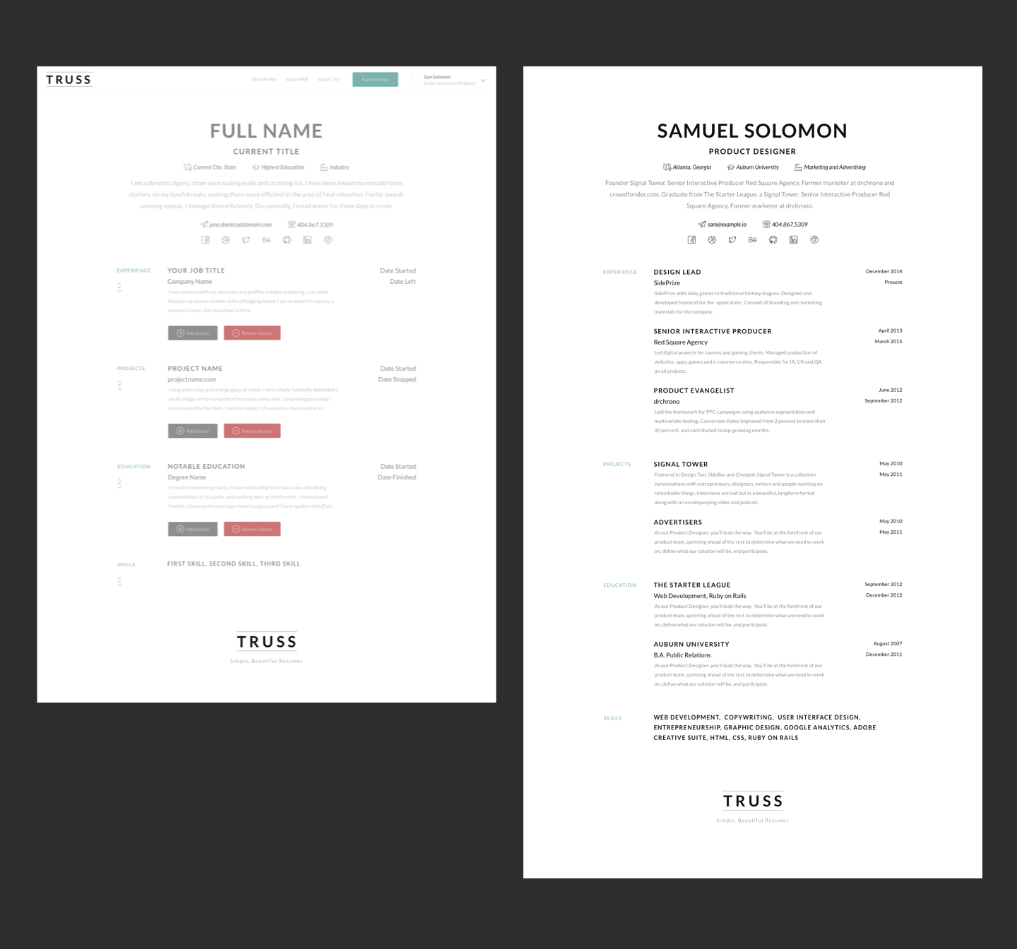 simple resume builder truss sam solomon simple resume builder example