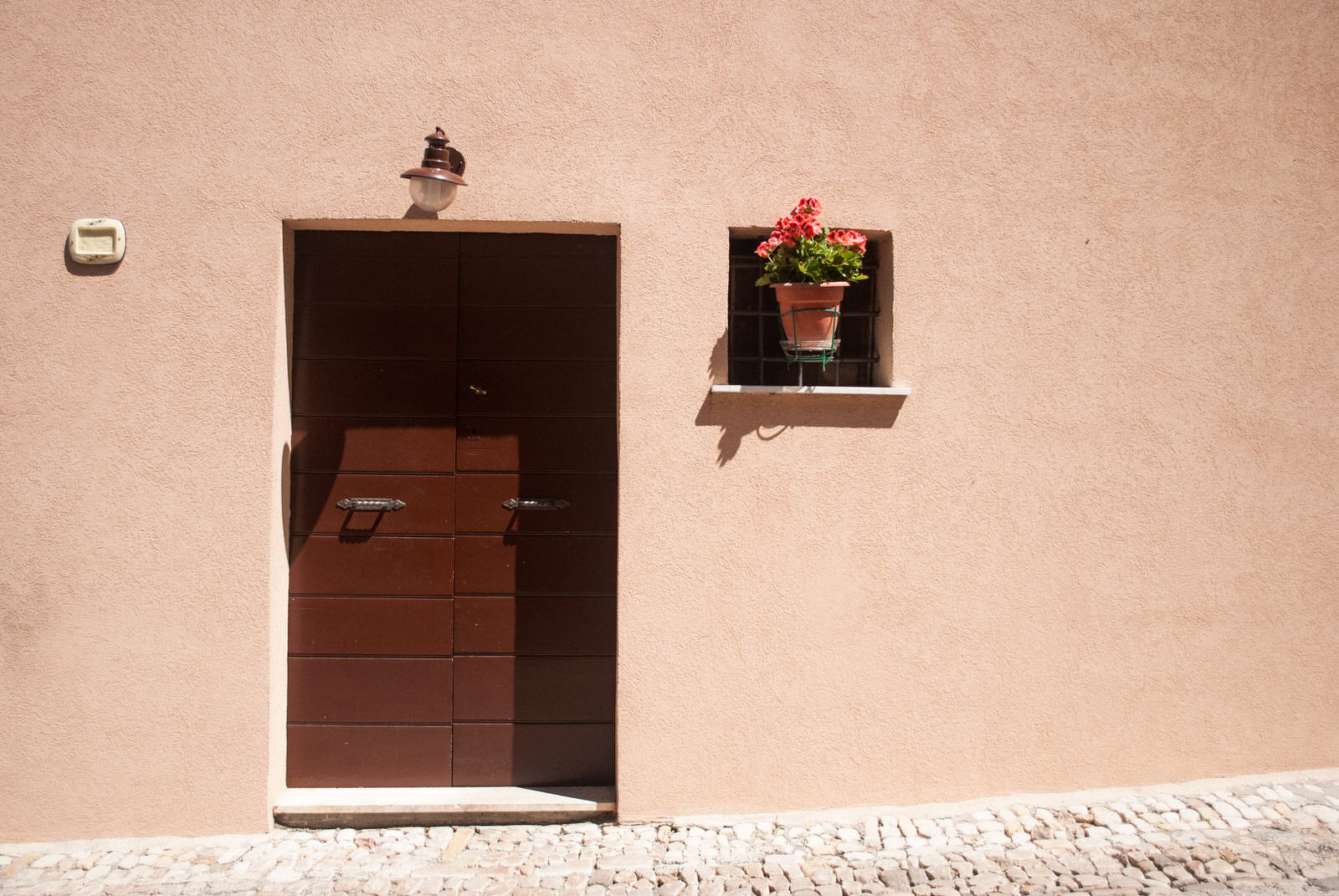 Minimal Doorway in Montefalco Italy