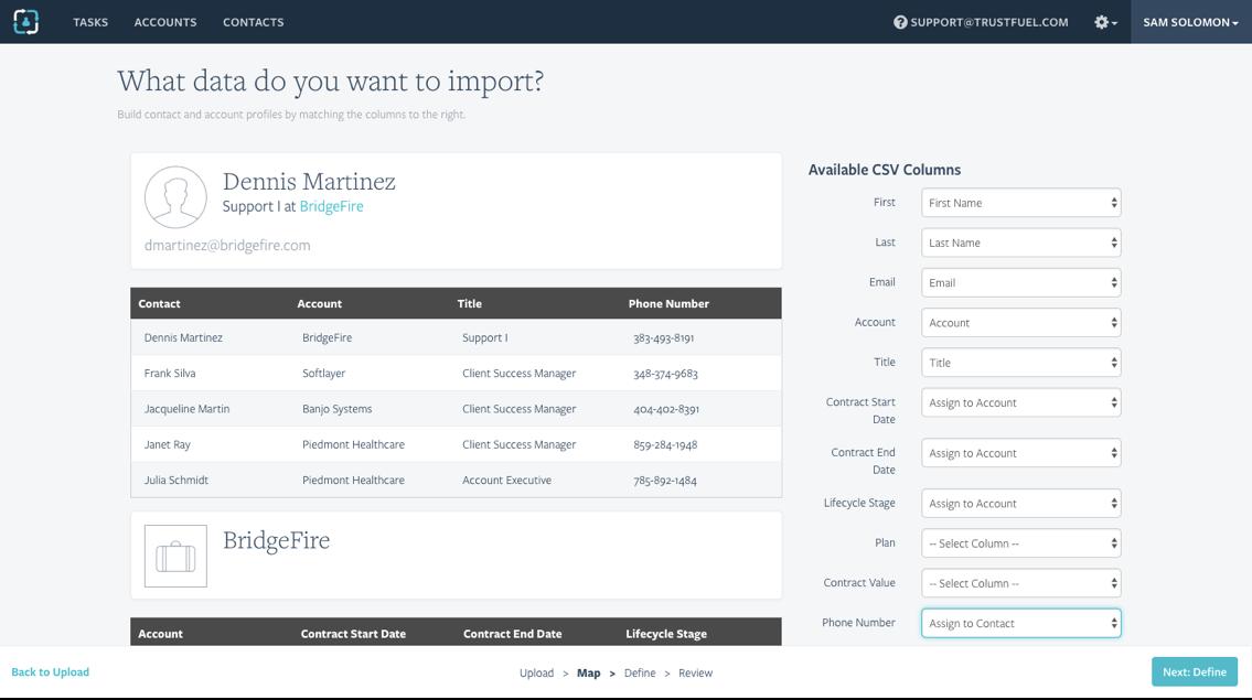 Trustfuel CSV Import