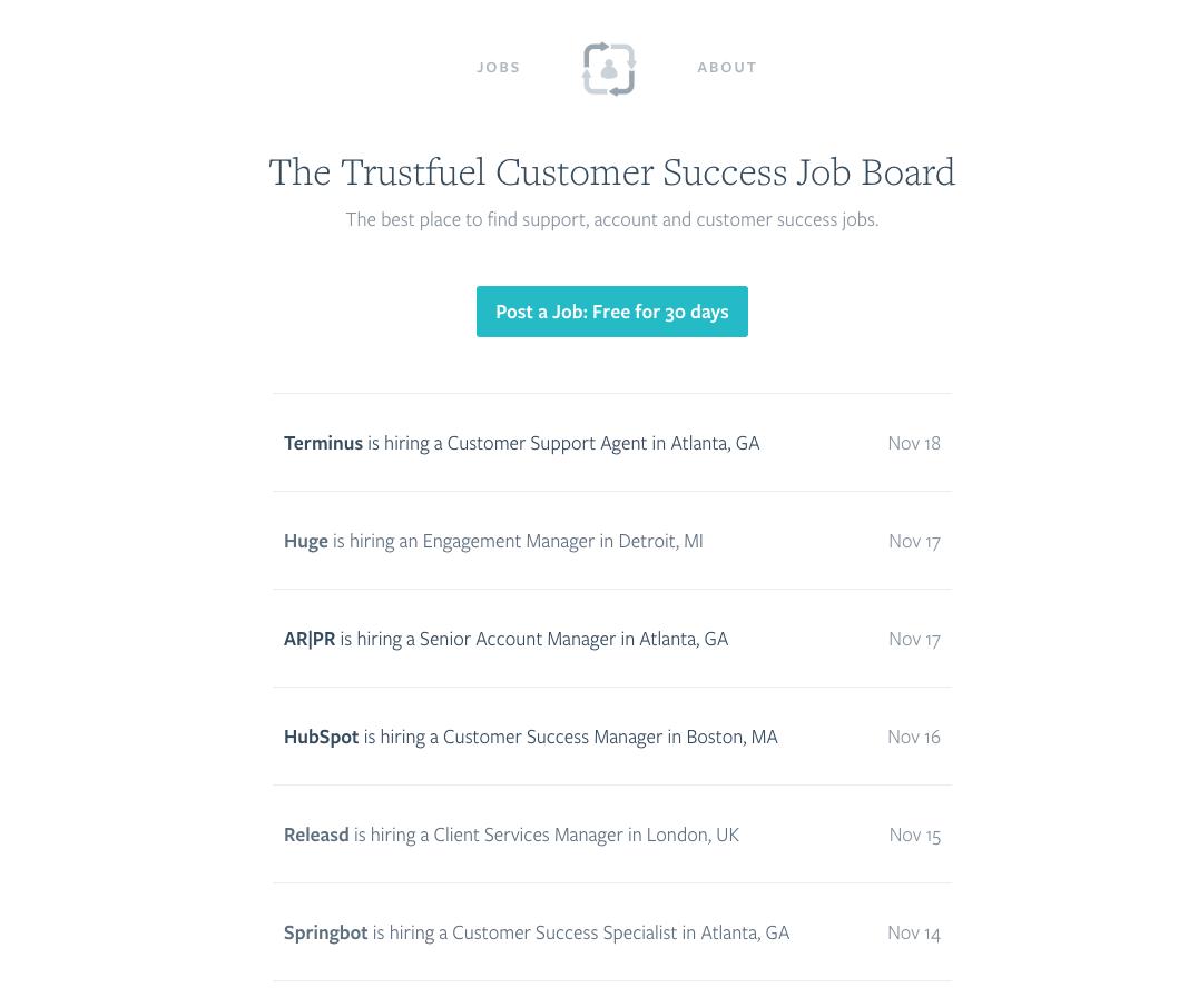 Customer Success Job Board
